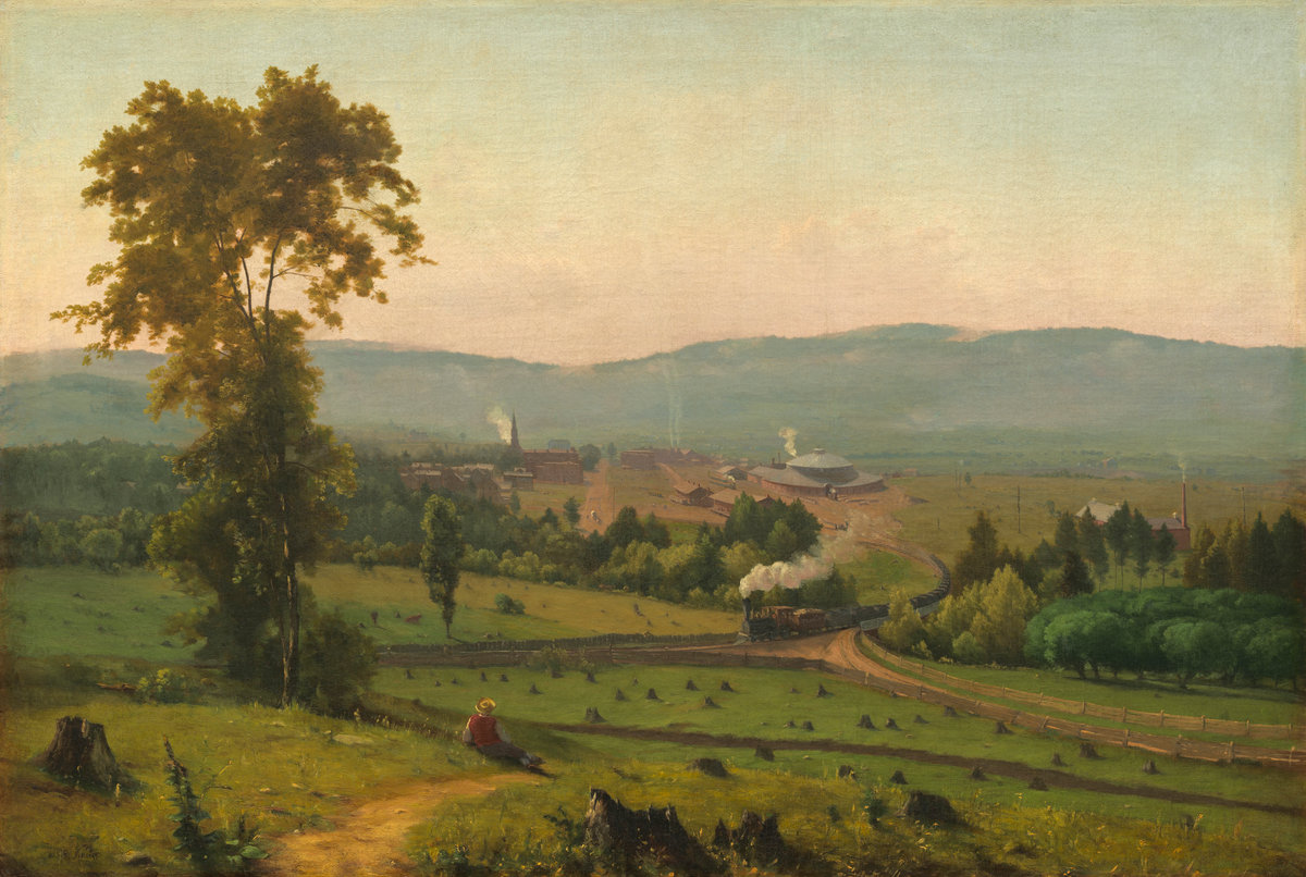 """George Inness, """"The Lackwanna Valley"""" (1856)"""